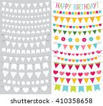 vector bunting flags set ... | Shutterstock .eps vector #410358658