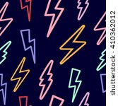 seamless texture with lightning ... | Shutterstock .eps vector #410362012