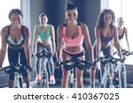 cycling beauties. young... | Shutterstock . vector #410367025