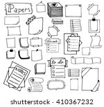 set of hand drawn paper notes... | Shutterstock .eps vector #410367232