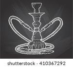 shisha  hookah hand drawn... | Shutterstock .eps vector #410367292
