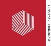 hexagon logo. minimal geometry. ... | Shutterstock .eps vector #410373745