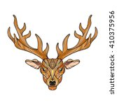 deer bright colorful head with...   Shutterstock .eps vector #410375956