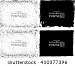 grunge frame texture set  ... | Shutterstock .eps vector #410377396