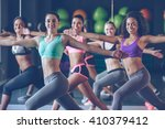 staying fit and cheerful. side... | Shutterstock . vector #410379412