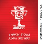 trophy on red background poster ... | Shutterstock .eps vector #410379766