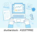vector business illustration in ... | Shutterstock .eps vector #410379982