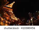 Stock photo las vegas eiffel tower 410380456