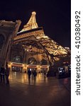 Stock photo las vegas eiffel tower 410380492