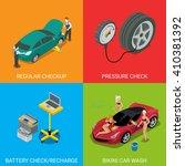 car service regular checkup... | Shutterstock .eps vector #410381392