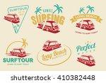 set of vintage surfing car... | Shutterstock .eps vector #410382448