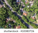 Top View Of Road In A Rural...