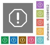 error flat icon set on color...
