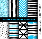 blue black white painted... | Shutterstock .eps vector #410390302