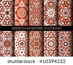set of brown kaleidoscope... | Shutterstock . vector #410394232