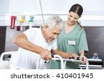 senior patient being assisted...   Shutterstock . vector #410401945