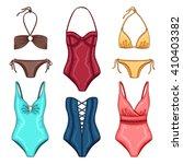 Vector Summer Fashion Woman's...
