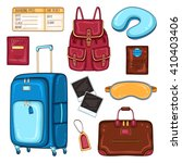 vector traveler's set of... | Shutterstock .eps vector #410403406