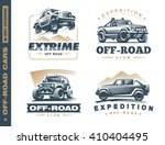 set of four off road suv car... | Shutterstock .eps vector #410404495