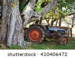 Tractor Under Seringa Tree