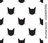 Black Cats Face Pattern