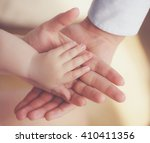 hand the sleeping baby in the... | Shutterstock . vector #410411356