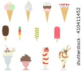 set of ice creams  isolated... | Shutterstock .eps vector #410411452