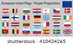 flags of european union eu... | Shutterstock .eps vector #410424265