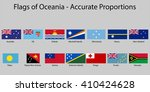 flags of oceania with names  ...   Shutterstock .eps vector #410424628