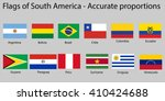 flags of south america... | Shutterstock .eps vector #410424688