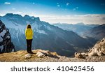 girl in the mountains | Shutterstock . vector #410425456