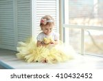 Cheerful Little Girl In The...