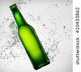 Green Bottle Of Beer Falling...