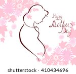silhouette of expectant mother... | Shutterstock .eps vector #410434696