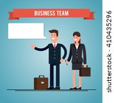 business man and woman with... | Shutterstock .eps vector #410435296