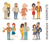 people and couples vector... | Shutterstock .eps vector #410439172