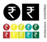 indian rupee coin icon set... | Shutterstock .eps vector #410439862