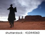 Cowboy On A Horse Silhouette...