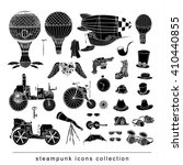 steampunk collection  hand... | Shutterstock .eps vector #410440855