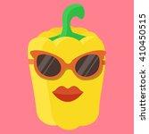 vector yellow sweet pepper... | Shutterstock .eps vector #410450515