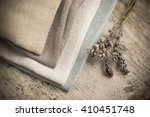 a pile of four folded dull... | Shutterstock . vector #410451748