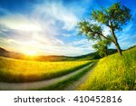 Idyllic Rural Landscape With...