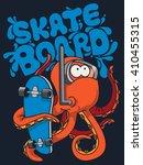 Skater  Octopus Vector...