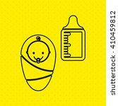 baby shower icon design    Shutterstock .eps vector #410459812