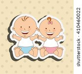 baby shower icon design  | Shutterstock .eps vector #410460022