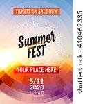 summer festival flyer design...   Shutterstock .eps vector #410462335