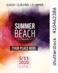 summer beach party flyer... | Shutterstock .eps vector #410462386