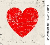 Grunge Heart Icon. Red Hearts...