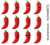 vector emoji pepper set.... | Shutterstock .eps vector #410468872