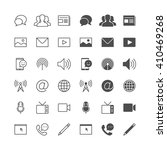 media and communication icons ... | Shutterstock .eps vector #410469268